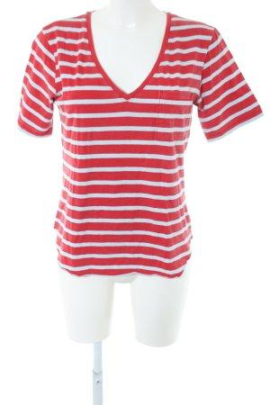 Better Rich T-Shirt rot-weiß Streifenmuster Casual-Look