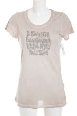 Better Rich T-Shirt altrosa Schriftzug gedruckt schlichter Stil