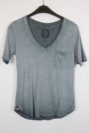 Better Rich Camiseta gris verdoso-color plata tejido mezclado