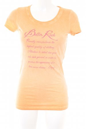 Better Rich T-shirt arancione Stampa a tema stile casual