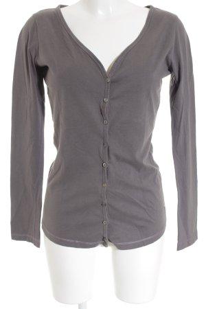 Better Rich Camisa con cuello V gris estilo «business»