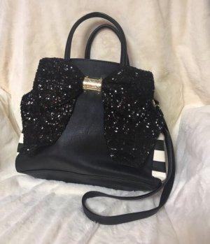 Betsey Johnson Handbag black-white