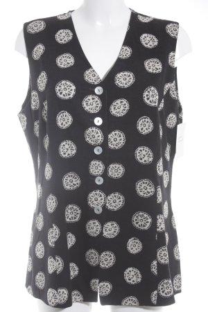 Betty Barclay Herenvest zwart-licht beige abstract patroon extravagante stijl