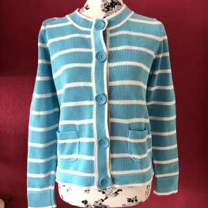 Betty Barclay blau-weiß gestreifte Strickjacke