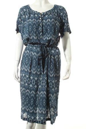 Betty Barclay Blusenkleid weiß-blau Gypsy-Look