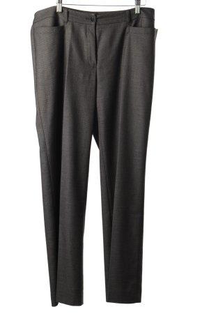 Betty Barclay Pantalon à pinces noir-gris motif à carreau style classique