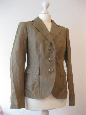 Betty Barclay Business Blazer oliv Nadelstreifen gestreift