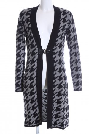 Betty Barclay Cardigan schwarz-hellgrau grafisches Muster Casual-Look