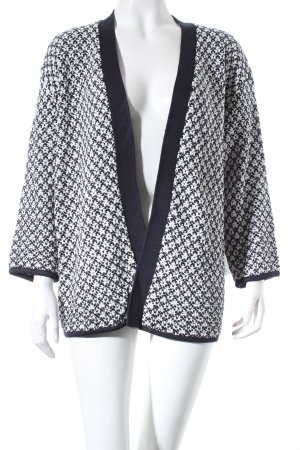 Betty Barclay Cardigan dunkelblau-wollweiß Webmuster Casual-Look