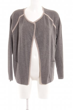Betty Barclay Cardigan grau-hellbraun schlichter Stil