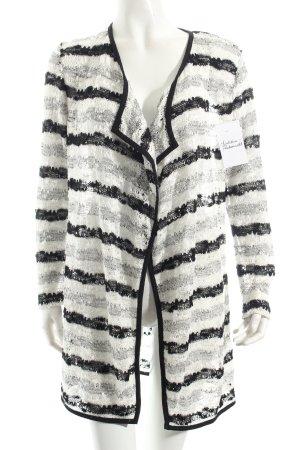 Betty Barclay Cardigan schwarz-weiß Lochstrickmuster klassischer Stil