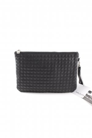 Betty Barclay Bolso de mano negro estampado acolchado look casual