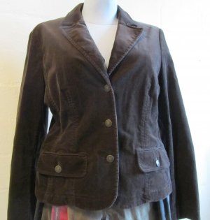 BETTY BARCLAY: Cordsamtjacke Gr. 42, dunkelbraun