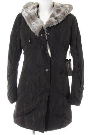 Betty Barclay Daunenjacke schwarz-hellgrau schlichter Stil