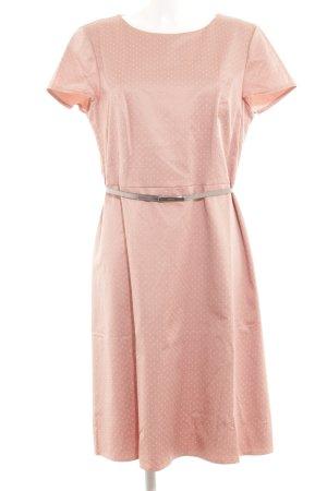 Betty Barclay Vestido ceñido de tubo rosa empolvado-blanco estampado a lunares