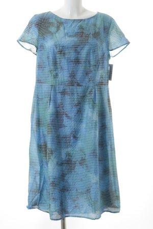 Betty Barclay Etuikleid blau-hellgrün Streifenmuster Casual-Look
