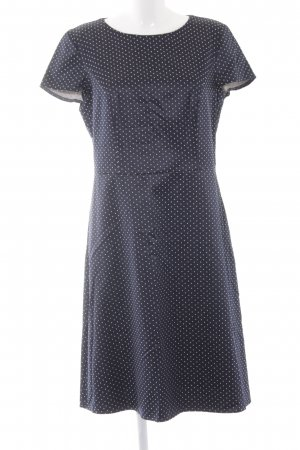 Betty Barclay Manteljurk donkerblauw-wit gestippeld patroon Jaren 70 stijl