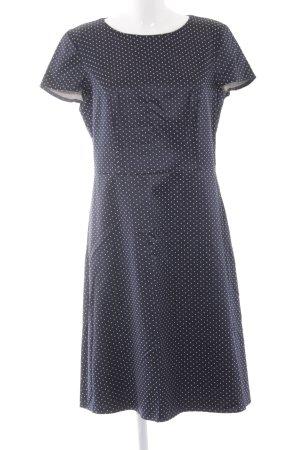 Betty Barclay Etuikleid dunkelblau-weiß Punktemuster 70ies-Stil