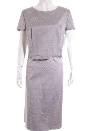 Betty Barclay Etuikleid grau-weiß Punktemuster Elegant