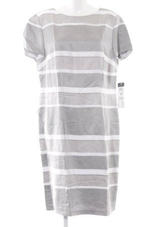 Betty Barclay Etuikleid grau-weiß Streifenmuster schlichter Stil