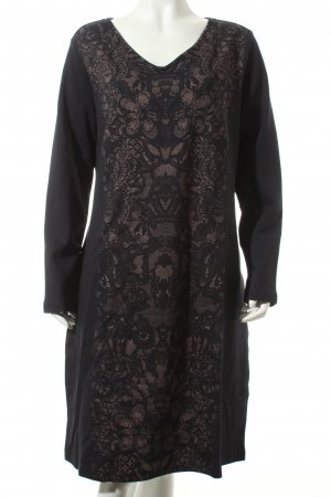 Betty Barclay Etuikleid schwarz-hellbraun florales Muster Street-Fashion-Look