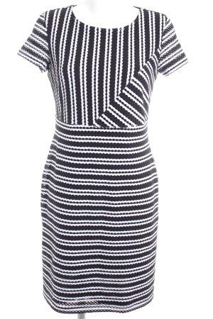Betty Barclay Etuikleid schwarz-weiß Streifenmuster Elegant