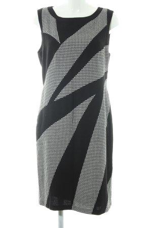 Betty Barclay Etuikleid schwarz-wollweiß Hahnentrittmuster 20ies-Stil