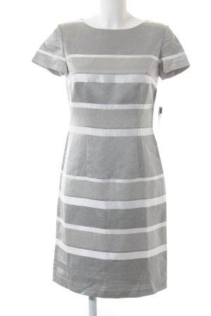 Betty Barclay Etuikleid silberfarben-wollweiß Streifenmuster Business-Look