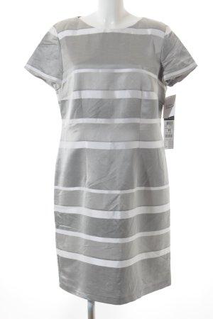 Betty Barclay Etuikleid weiß-grau Streifenmuster Casual-Look