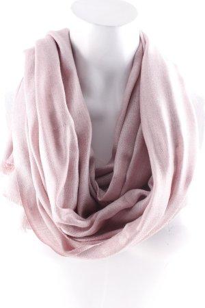 Betty Barclay Sjaal met franjes stoffig roze pied-de-poule patroon pluizig