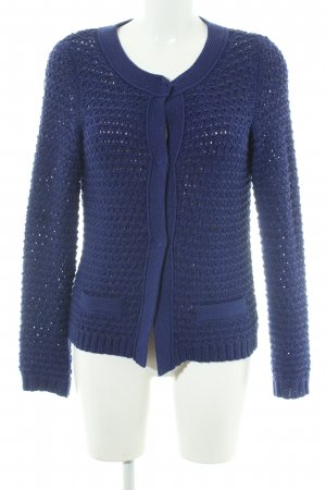 Betty Barclay Coarse Knitted Jacket blue casual look