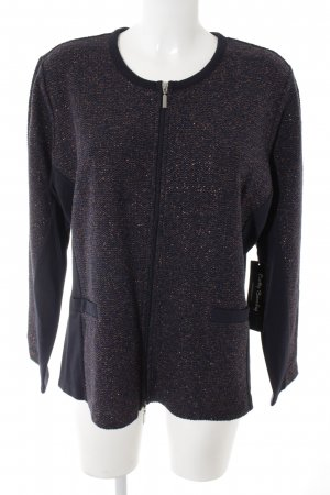 Betty Barclay Coarse Knitted Jacket dark blue-rose-gold-coloured glittery