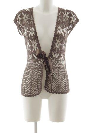 Betty Barclay Crochet Cardigan grey brown casual look