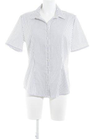 Betty Barclay Hemd-Bluse weiß-schwarz Nadelstreifen Business-Look