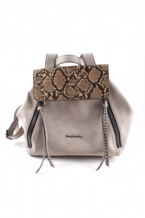 Betty Barclay Bolso barrel marrón claro estampado de animales elegante