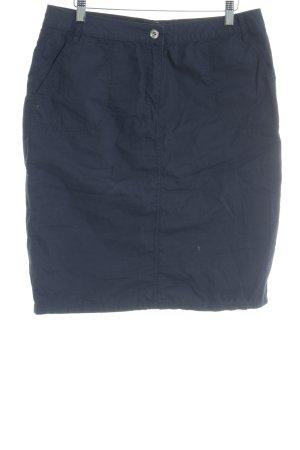 Betty Barclay High Waist Rock blau-dunkelblau Casual-Look