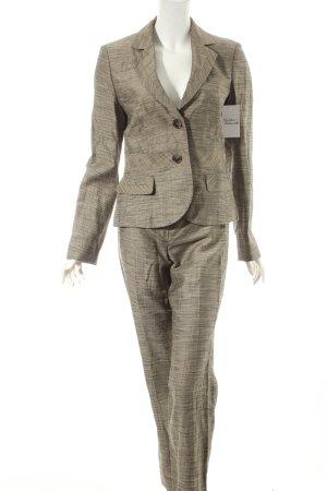 Betty Barclay Hosenanzug beige-schwarz Ringelmuster Business-Look