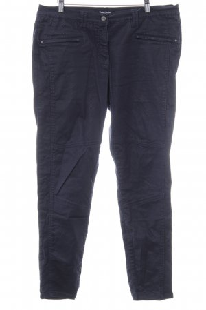 Betty Barclay Pantalone houlihan blu scuro-nero motivo a quadri stile casual