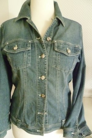 Betty Barclay - Jeans Jacke - Stretch -mit Glitzersteinchen - Gr. 40 -
