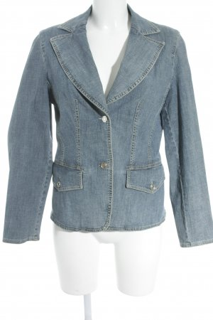 Betty Barclay Jeansblazer blau meliert Casual-Look