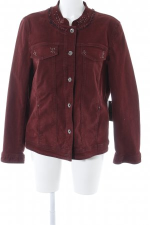 Betty Barclay Jeansjacke bordeauxrot Casual-Look