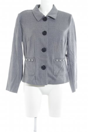 Betty Barclay Jerseyblazer grau-schwarz Hahnentrittmuster Casual-Look