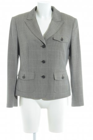 Betty Barclay Jerseyblazer schwarzbraun-wollweiß Karomuster Casual-Look