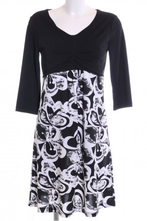 Betty Barclay Jerseykleid schwarz-weiß Blumenmuster Business-Look