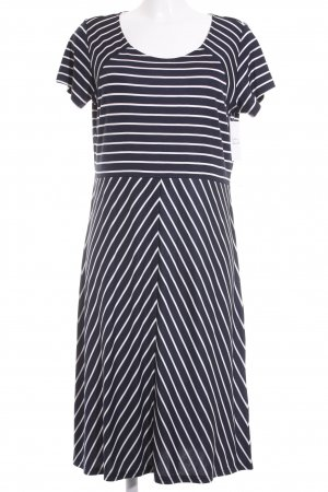 Betty Barclay Jerseykleid dunkelblau-weiß Streifenmuster Casual-Look