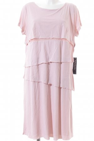 Betty Barclay Jerseykleid rosa-weiß Punktemuster Casual-Look