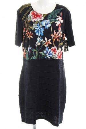 Betty Barclay Jerseykleid schwarz florales Muster Applikation