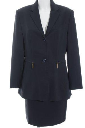 Betty Barclay Traje para mujer azul oscuro-color oro estilo clásico