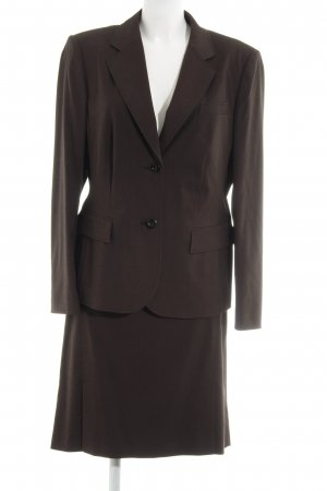 Betty Barclay Tailleur marrone scuro-nero stile professionale