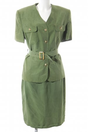 Betty Barclay Kostüm khaki extravaganter Stil